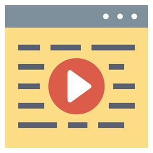 <em>Vídeos e treinamento</em><br><b>Armazenamento automatizado</b>