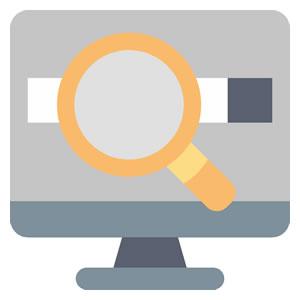 <em>Gerência</em><br><b>Pesquisa por palavra-chave e pesquisa avançada</b>